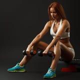 Beautiful fitness female royalty free stock photo