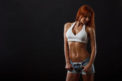 Beautiful fitness female stock images