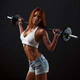 Beautiful fitness female royalty free stock photography