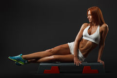 Beautiful fitness female royalty free stock image