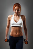 Beautiful fitness female stock photo