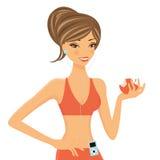 Beautiful fitness girl royalty free illustration