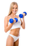 Beautiful fitness girl Stock Photo