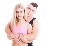 Beautiful fitness sporty couple Royalty Free Stock Image