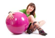 Beautiful fitness trainer Stock Image