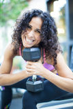 Beautiful Fitness trainer Stock Image