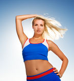 Beautiful fitness trainer Royalty Free Stock Image