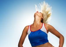 Beautiful fitness trainer Royalty Free Stock Photo