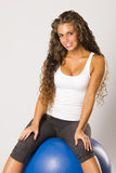 Beautiful fitness woman doing exercise Royalty Free Stock Photography