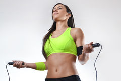 Beautiful fitness woman Stock Photos