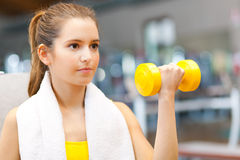 Woman training in the gym Royalty Free Stock Images