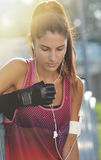 Beautiful fitness woman Stock Photography