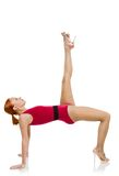 Beautiful fitness woman performing handstand Royalty Free Stock Photos