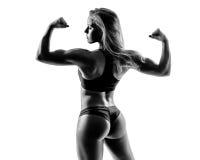 Beautiful fitness woman posing on studio background Royalty Free Stock Photos