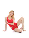 Beautiful fitness woman stretching Stock Images