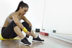 Beautiful fitness woman stock image