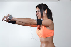 Beautiful fitness woman Royalty Free Stock Image