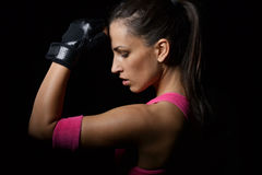 Beautiful fitness woman working out Royalty Free Stock Images