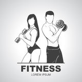 Beautiful fitness young sporty couple with Royalty Free Stock Photos