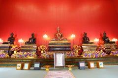 He beautiful five Buddhas at Hongrattanaram temple Stock Images