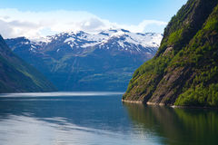 Beautiful fjord and coast. Stock Photo