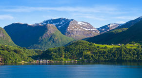 Beautiful fjord and coast. Stock Images