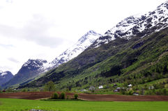 Beautiful Fjord Landscape_Mountain Valley_Countryside Stock Images