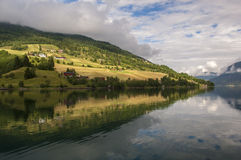 Beautiful Fjord Scenery in Norway Royalty Free Stock Photography