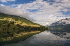 Beautiful Fjord Scenery in Norway Stock Image