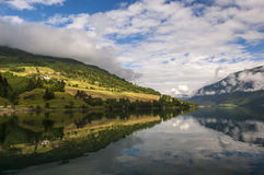Beautiful Fjord Scenery in Norway Royalty Free Stock Images