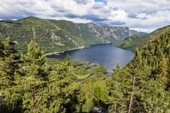 Beautiful fjord in Telemark Norway at the summer Stock Photos