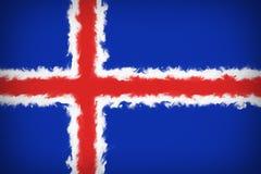 Beautiful flag of Iceland vector illustration