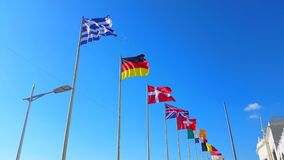 Beautiful Flags of The World Wave on a Wind stock footage