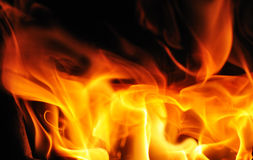 Beautiful flame Stock Images