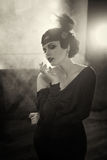 Beautiful Flapper girl Royalty Free Stock Image