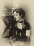 Beautiful Flapper girl Stock Image