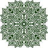Green pattern with clover royalty free illustration