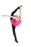 Beautiful flexibility dancer posing. Over white background Stock Photo