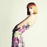 Beautiful flexible girl Stock Photo