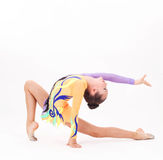 Beautiful flexible girl gymnast Royalty Free Stock Images