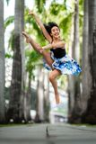 Beautiful Flexible Young Woman Dancing stock photos
