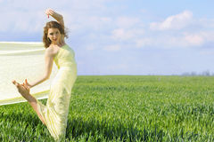 Beautiful flexible young woman Stock Image