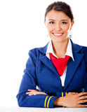 Beautiful flight attendant Royalty Free Stock Photography