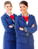Beautiful flight attendants Royalty Free Stock Images