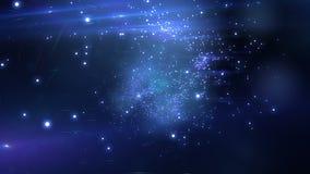 Beautiful Flight through the stars. Looped animation. HD 1080.  stock footage
