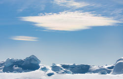 Beautiful floe. Against blue sky Royalty Free Stock Images