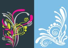 Beautiful floral abstract background Stock Image