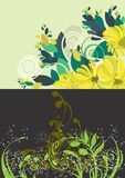 Beautiful floral abstract background Royalty Free Stock Images