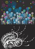 Beautiful floral abstract background in soft blue Royalty Free Stock Photography