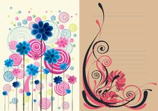 Beautiful floral abstract background in soft brown Royalty Free Stock Images